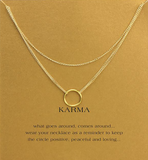 "Limited Edition ""Karma"" Circle of Life Necklace - FREE SHIPPING"