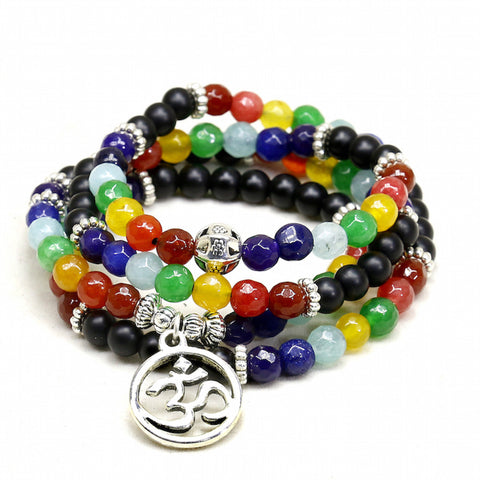 Happy Go Lucky - Colorful Chakra Energy Healing Bracelet - FREE SHIPPING