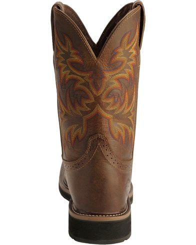 Justin Mens Rugged Western Pull-On Work Boot