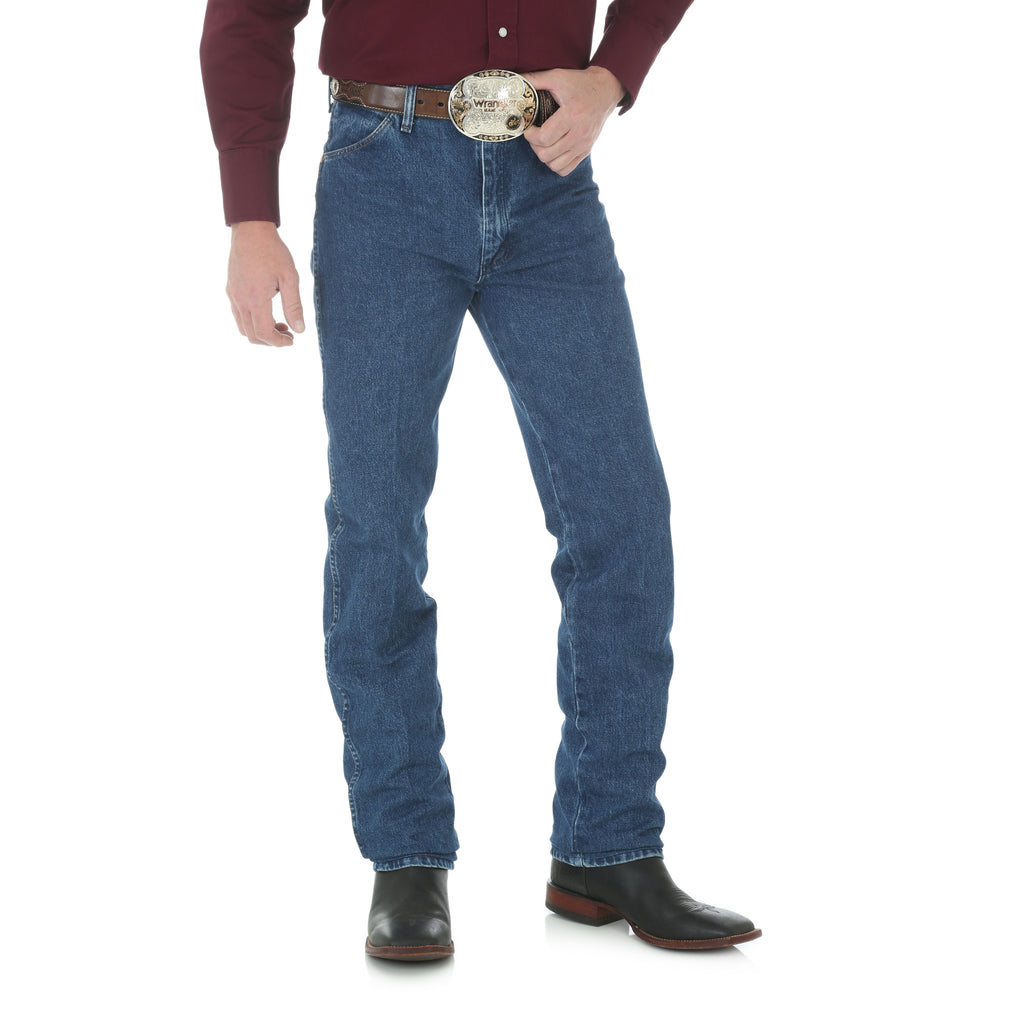 Wrangler Men's Gold Buckle Slim Fit Western Jeans