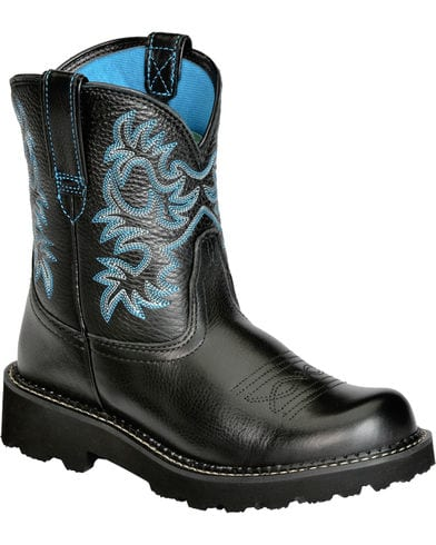 Ariat Womens Fatbaby Black Cowgirl Boots
