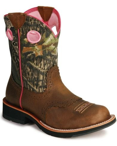 Ariat Womens Fatbaby Camo Western Boot