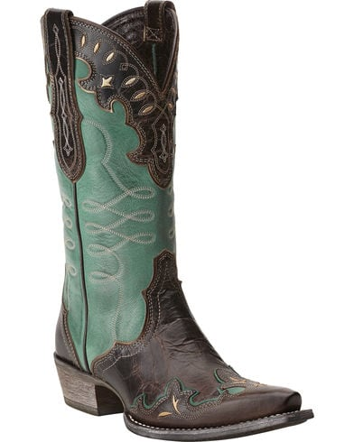 Ariat Womens Brown Zealous Barnwood Western Boot