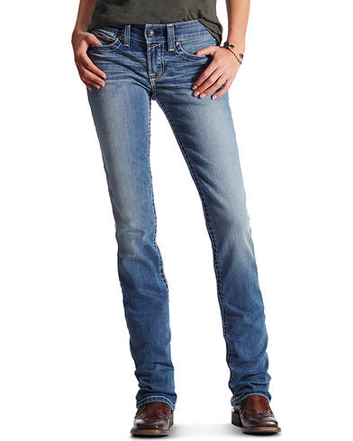 Ariat Women's Mid Rise Icon Stackable Straight Leg Jean