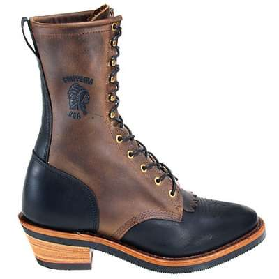 Chippewa Men's Black/Bay Crazy Horse Packer Work Boot