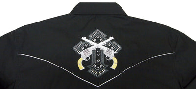 White Horse Ranch Cross & Pistols L/S Shirt - Big Sizes