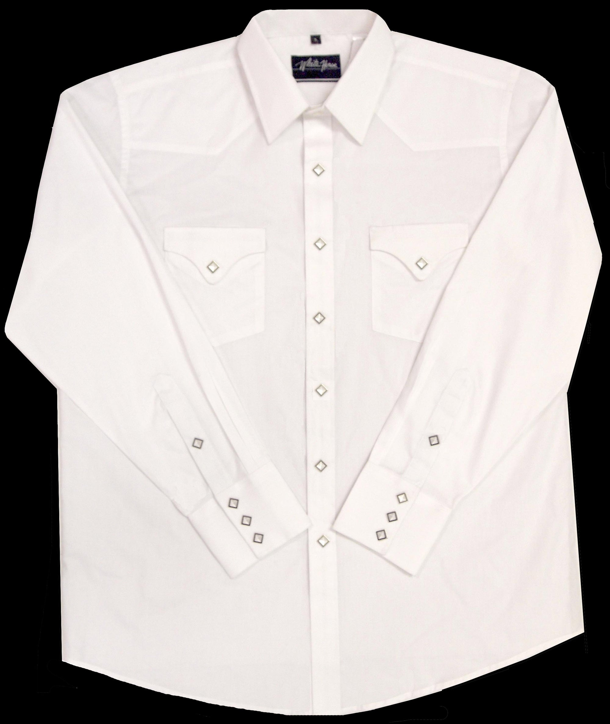White Horse Men's Classic L/S Western Shirt - White