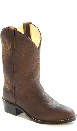 Old West Kids Brown Western Boot