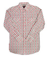 White Horse Mens L/S Stripe Western Shirt