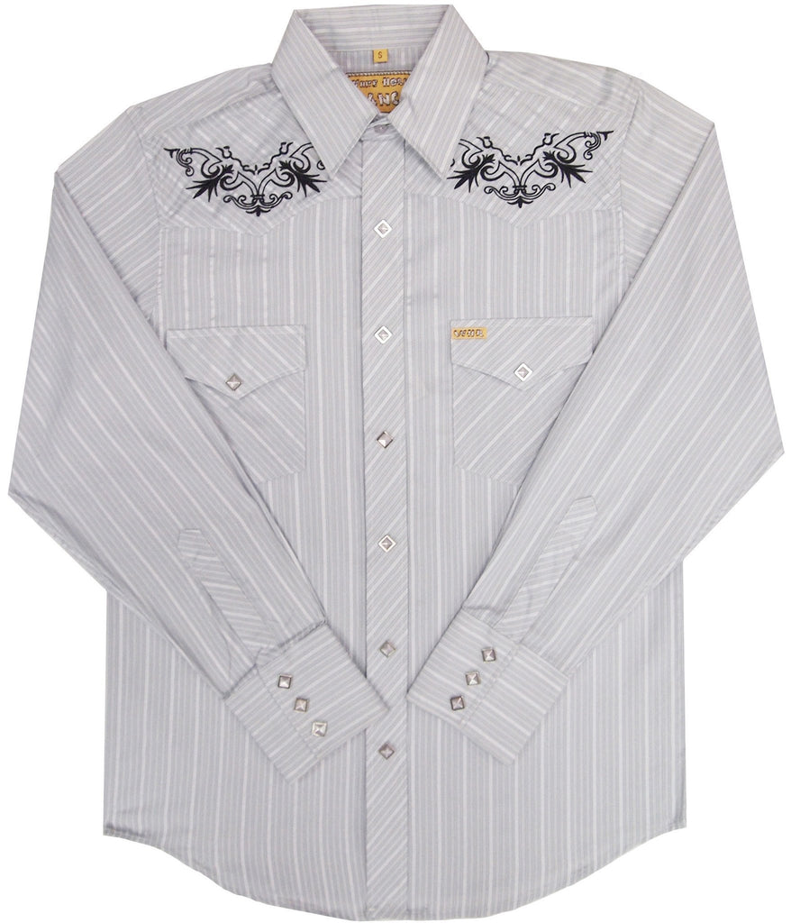 White Horse Ranch Mens Stripe Western Shirt