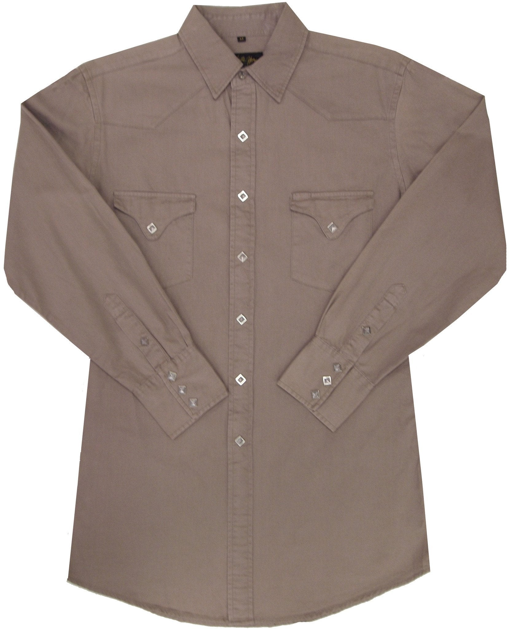 White Horse Mens Canvas Western Shirt - Big Sizes