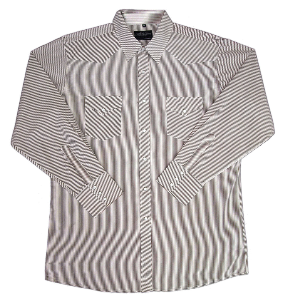 White Horse Mens Stripe L/S Western Shirt