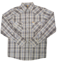 White Horse Ranch Mens Plaid Western Shirt