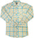 Mens White Horse L/S Plaid Western Shirt