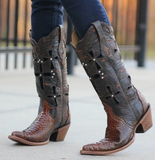 Corral Boots Musgo Python Cross Western Boots