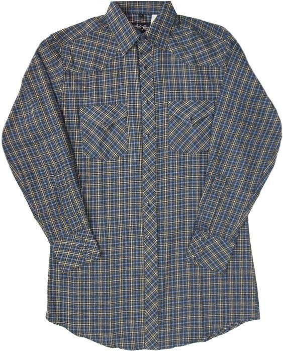 White Horse Mens Plaid Flannel Western Shirt