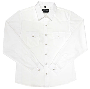 White Horse Womens Solid White Western Shirt