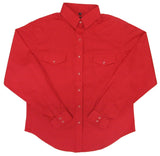 White Horse Women's Solid Red Western Shirt