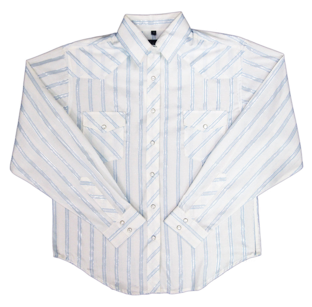 White Horse Womens Stripe Western Shirt