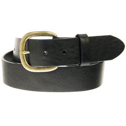 Justin Work Basic Leather Belt - Black