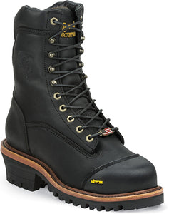 Chippewa Men's Super Logger Black Composite Toe Boot