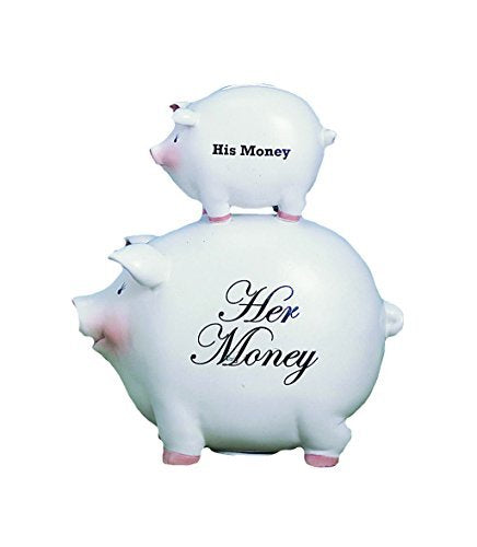 "Youngs, Inc ""His Money"" ""Her Money"" Piggy Bank"