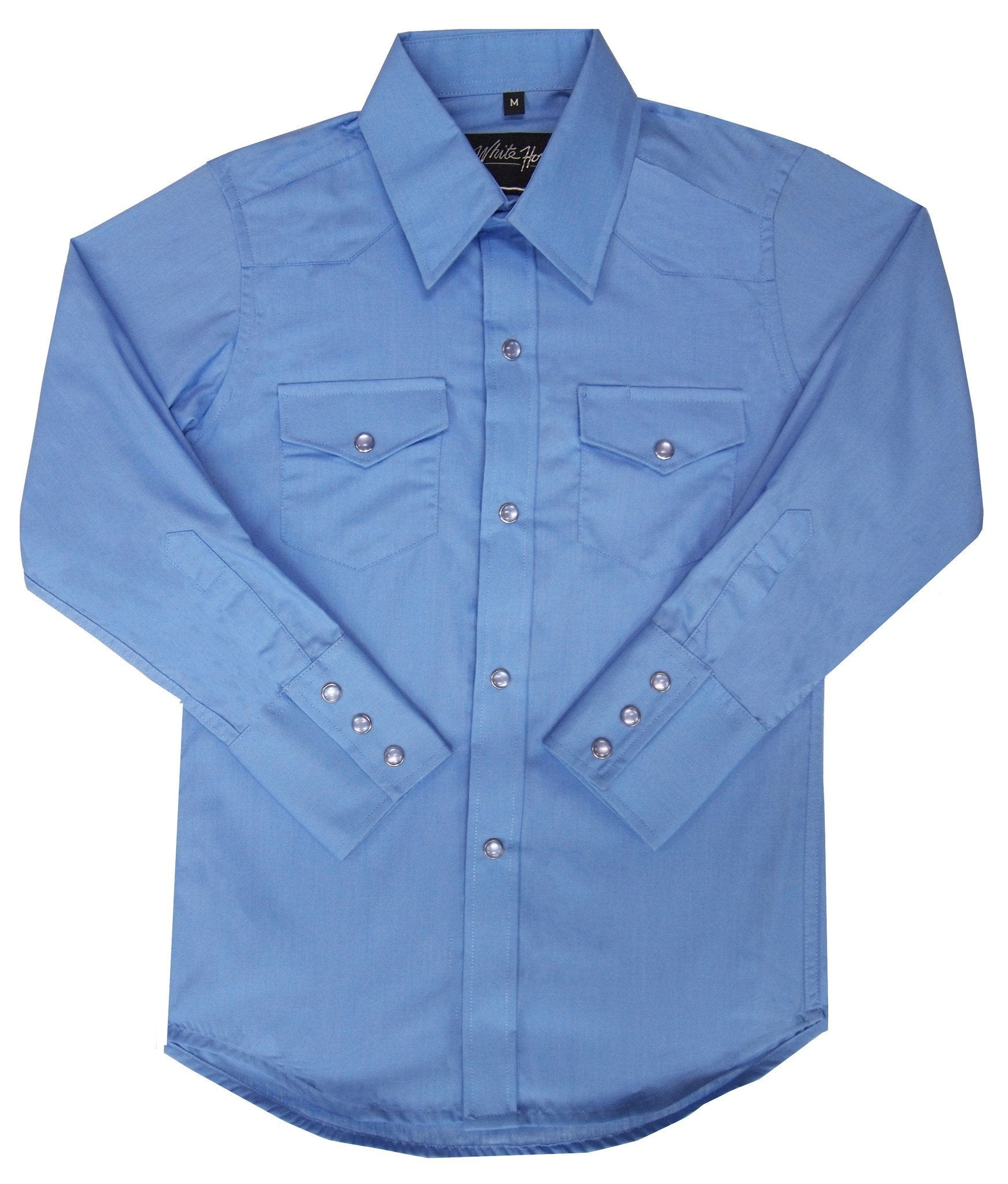 White Horse Boys Solid Western Shirt