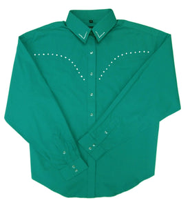 White Horse Girls Rhinstone Western Shirt
