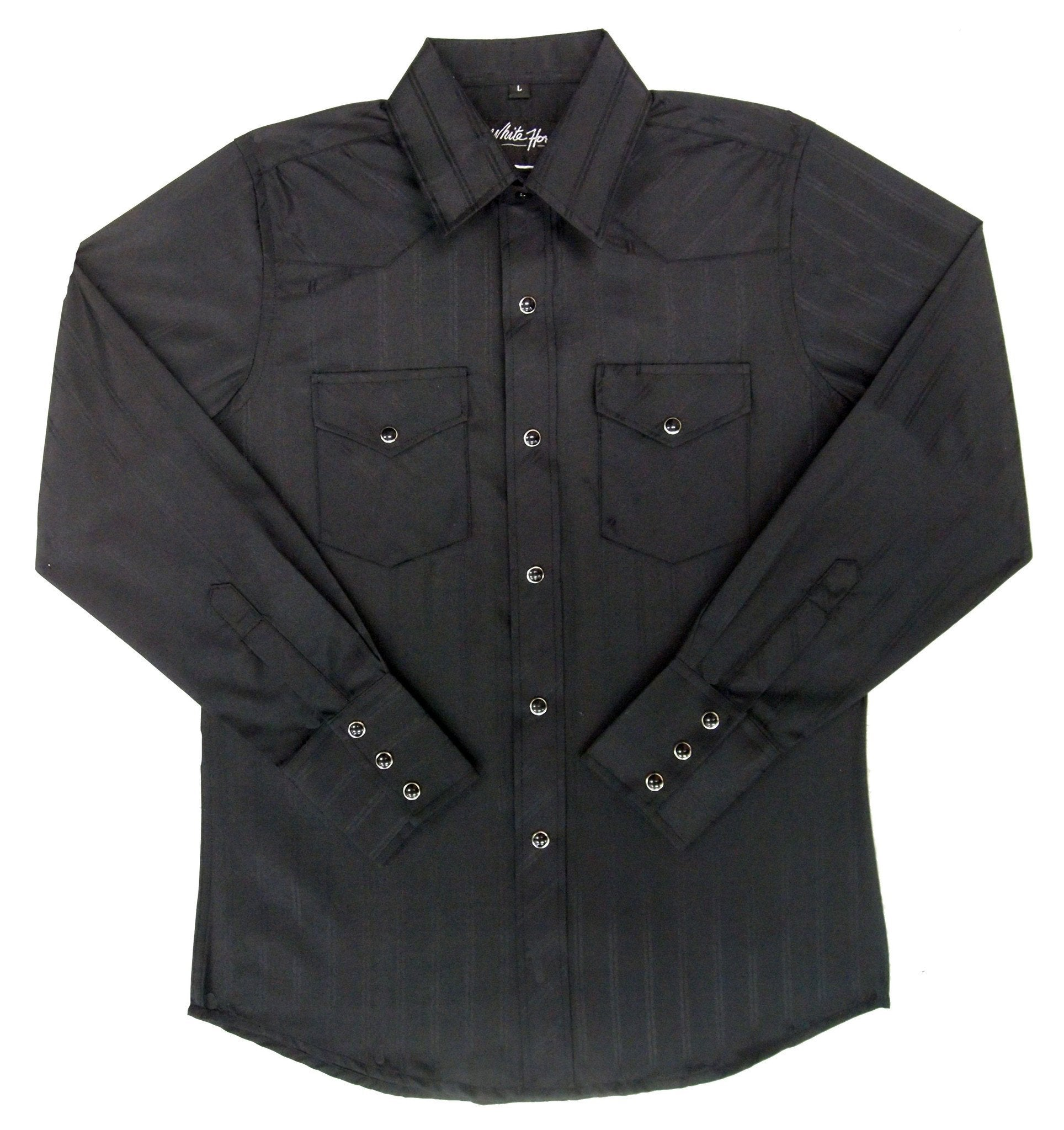 White Horse Boys Tone on Tone Western Shirt