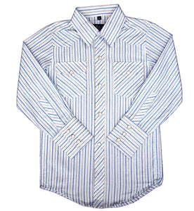 White Horse Boys Stripe Western Shirt