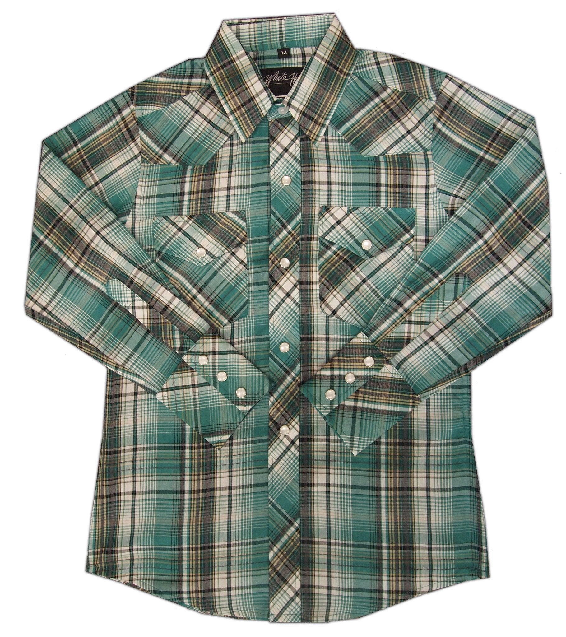 White Horse Boys Plaid Western Shirt