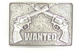 "M & F Western Products ""Wanted"" Rectangle Belt Buckle"