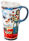 Evergreen Enterprises Ceramic Travel Cup - Life Is Precious