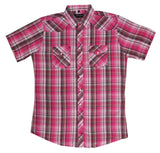 White Horse Mens Plaid Western Shirt