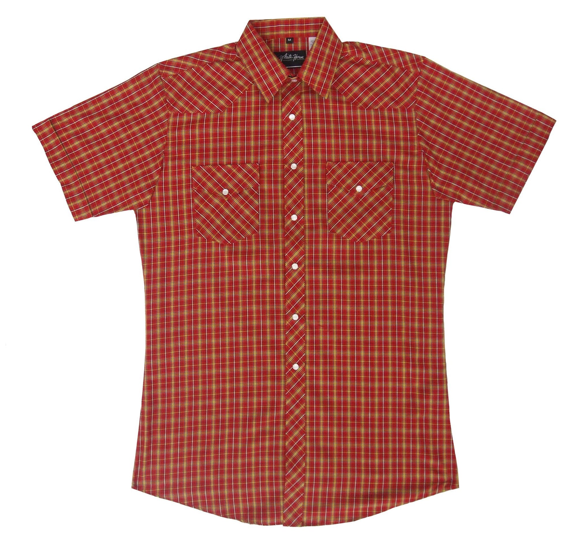 White Horse Men's Plaid Western Shirt