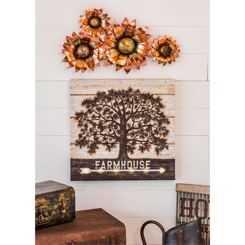 Evergreen Enterprises LED Canvas Wall Decor - Farmhouse