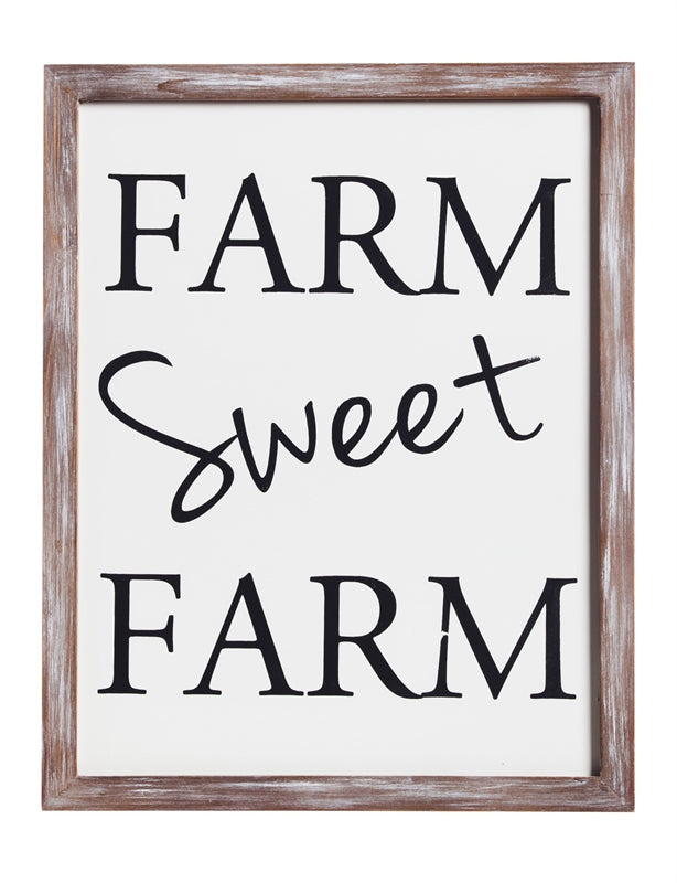 Evergreen Enterprises Farm Sweet Farm Wooden Wall Art