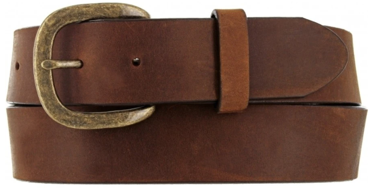 Justin Work Basic Leather Belt - Dark Brown