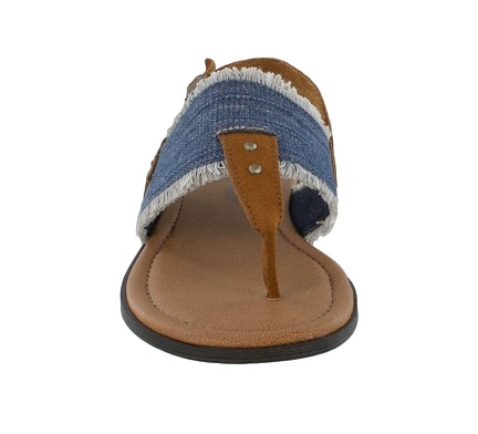 Minnetonka Women's Panama Blue Denim Sandal