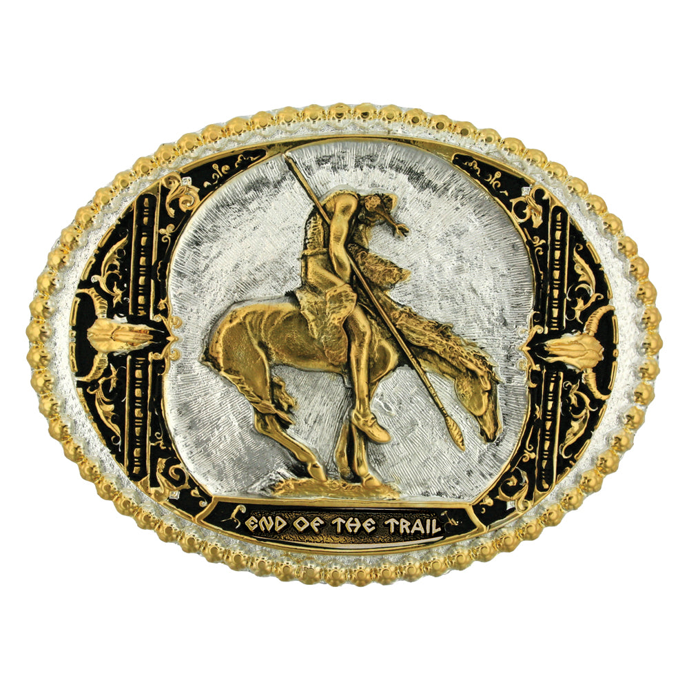 Montana Silversmiths End of the Trail Two Tone Attitude Belt Buckle