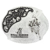 Montana Silversmiths Silver Cowboy Up Bull Riders Only Western Belt Buckle