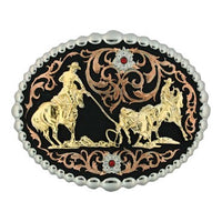 Montana Silversmiths Tri Color Team Roper Attitude Buckle