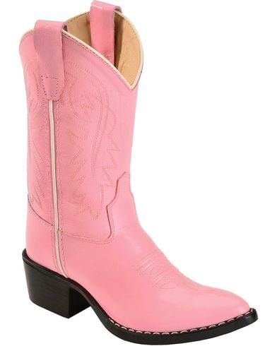 Old West Childrens Girl Pink Western Boot