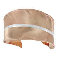 Montana Silversmiths New Perspectives Sunlit With Strength & Grace Feather Cuff Bracelet