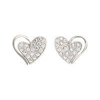Montana Silversmiths Heart Print Earrings