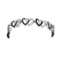 Montana Silversmiths Crystal & Black Double Heart Link Bracelet