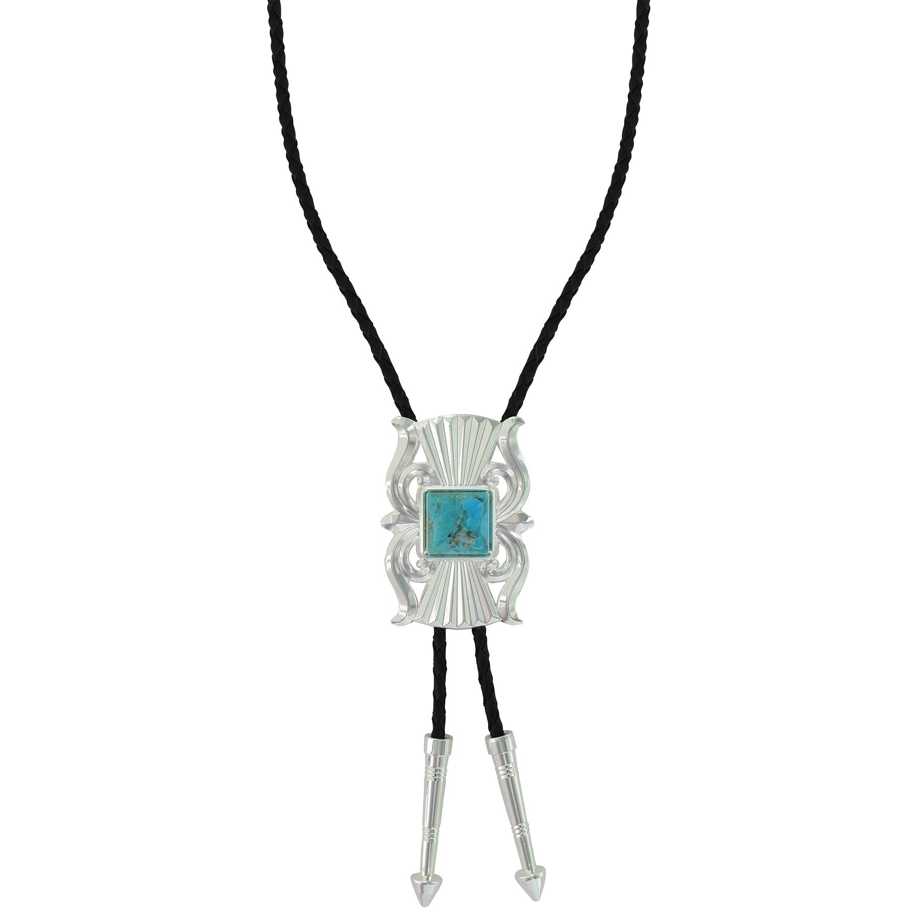 Montana Silversmiths Gates of the Mountains Turquoise Bolo Tie