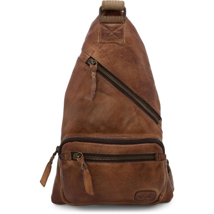 "Bed Stu ""Andie"" Tan Rustic Stylin Sling Backpack Purse"