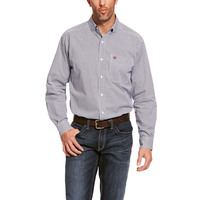 ARIAT Mens Classic Fit Long Sleeve Stretch Shirt