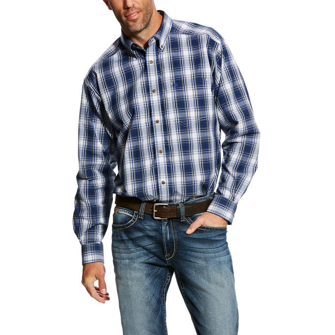 Ariat Men's Gallahan Large Plaid Longsleeve Wester Shirt